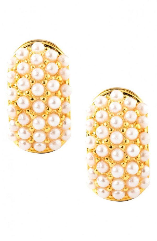 Women's Erwin Pearl Glass Pearl Reversible Earrings
