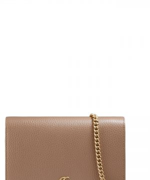 Women's Gucci Petite Marmont Leather Wallet On A Chain -