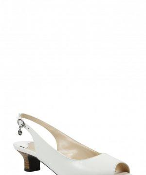 Women's J. Renee Aldene Slingback Sandal, Size 9 B - White