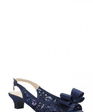 Women's J. Renee Landan Bow Slingback Sandal, Size 9 B - Blue