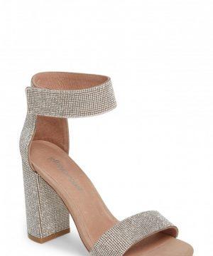 Women's Jeffrey Campbell Lindsay Sandal, Size 9 M - Metallic