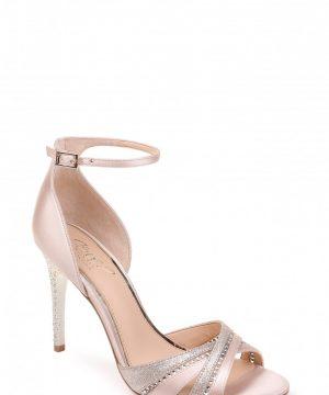Women's Jewel Badgley Mischka Diablo Embellished Halo Strap Sandal, Size 8 M - Ivory