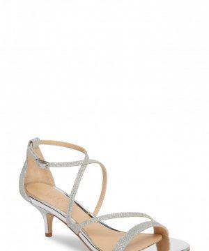 Women's Jewel Badgley Mischka Gal Glitter Kitten Heel Sandal