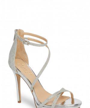 Women's Jewel Badgley Mischka Galen Strappy Platform Sandal, Size 9 M - Metallic