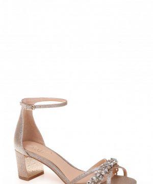 Women's Jewel Badgley Mischka Giona Sandal, Size 8 M - Metallic
