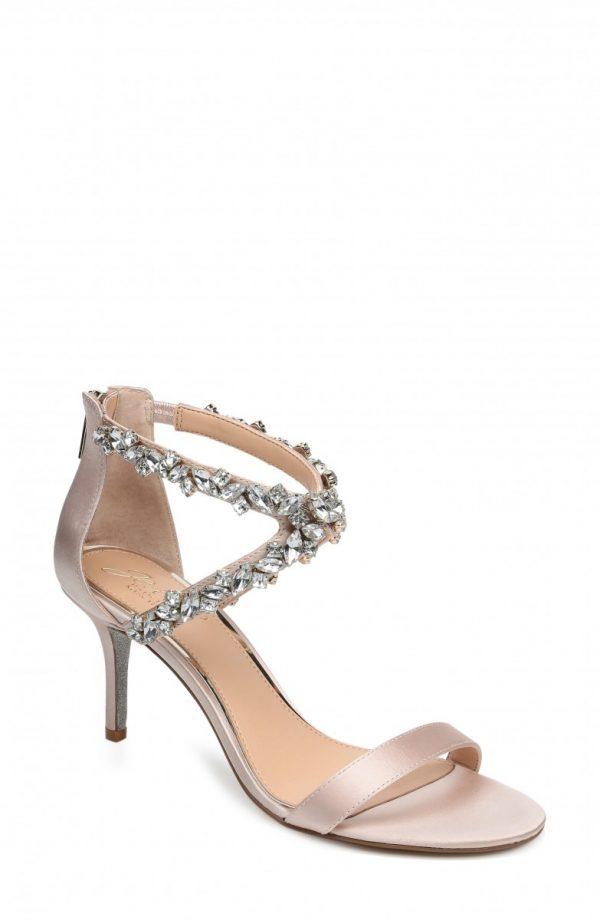 Women's Jewel Badgley Mischka Jaylee Sandal, Size 7 M - Ivory