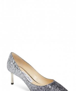 Women's Jimmy Choo Romy Glitter Pump, Size 8US / 38EU - Blue