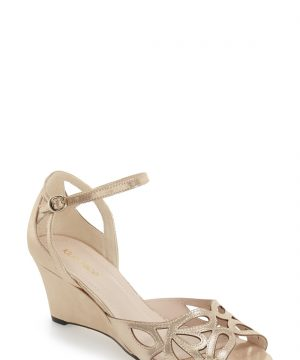 Women's Klub Nico 'Kismet' Wedge Sandal, Size 9 M - Metallic