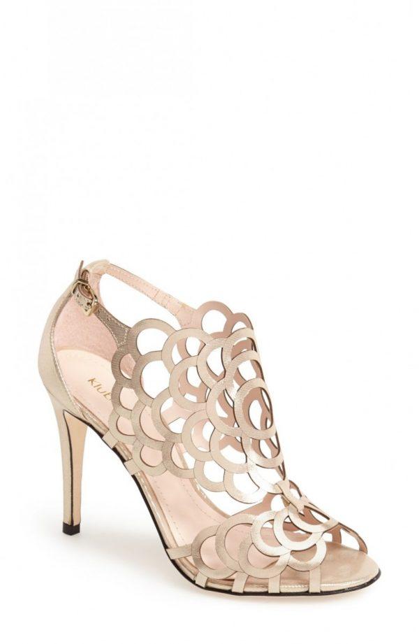 Women's Klub Nico 'Millie' Cutout Sandal, Size 8 M - Metallic