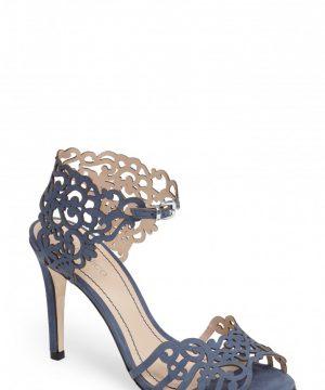 Women's Klub Nico 'Moxie' Laser Cutout Sandal, Size 8 M - Blue