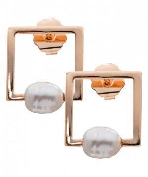 Women's L. Erickson Simulated Pearl Stud Earrings