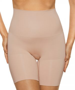 Women's Nancy Ganz Power Play Shaper Shorts, Size Small - Beige
