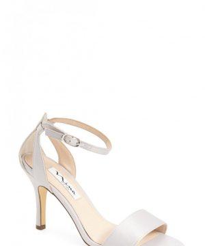 Women's Nina 'Venetia' Ankle Strap Sandal, Size 8 M - Metallic