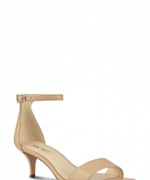 Women's Nine West 'Leisa' Ankle Strap Sandal, Size 7 M - Beige