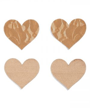 Women's Nippies By Bristols Six Heart Nipple Covers, Size B - Beige