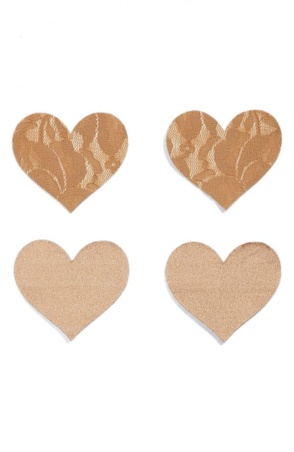 Women's Nippies By Bristols Six Heart Nipple Covers, Size B - Beige