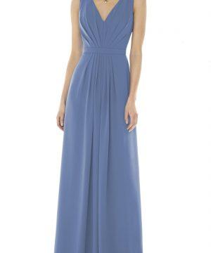 Women's Social Bridesmaids V-Neck Georgette Gown