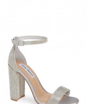 Women's Steve Madden Carrson Sandal, Size 7 M - Metallic