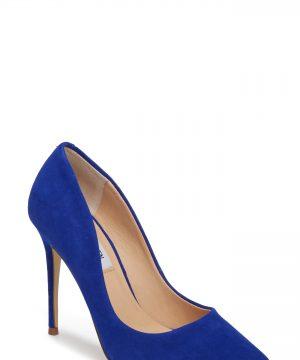 Women's Steve Madden Daisie Pointy-Toe Pump, Size 7.5 M - Blue
