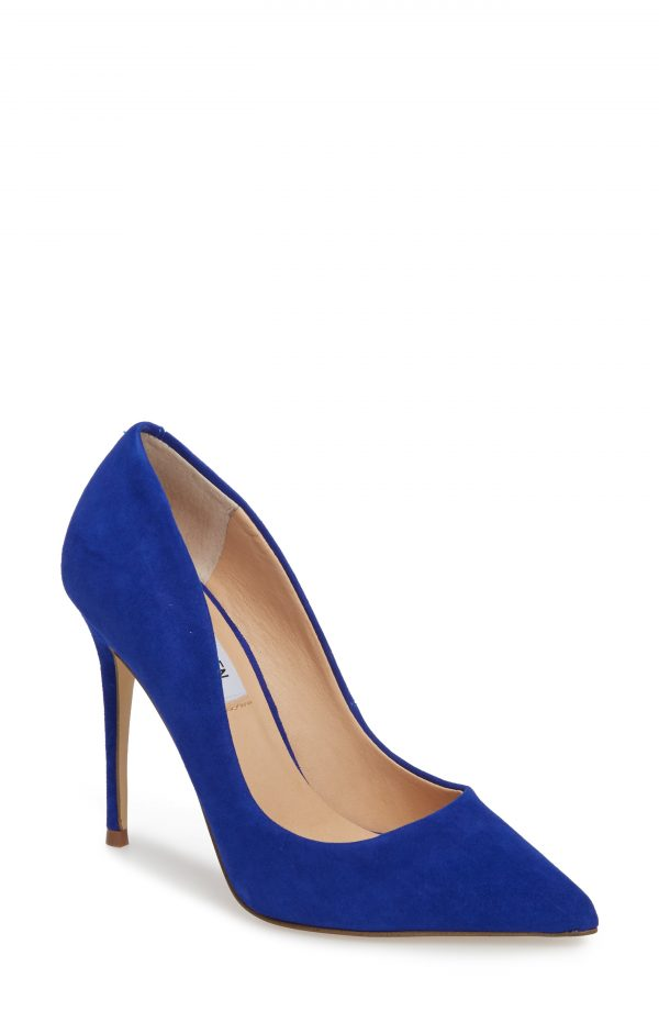Women's Steve Madden Daisie Pointy-Toe Pump, Size 7.5 M - Blue