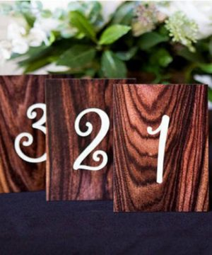 Wood Grain Table Numbers