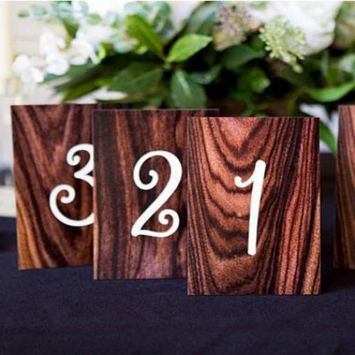 Wood Grain Table Numbers
