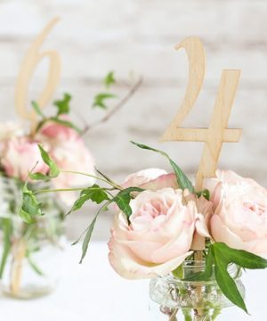 Wood Table Numbers