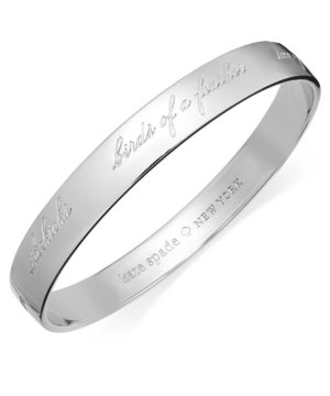 kate spade new york Bridesmaid Engraved Idiom Bangle Bracelet