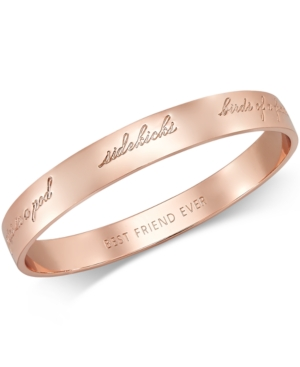 kate spade new york Rose Gold-Tone Bridesmaid Bangle Bracelet