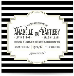 Ascot Chic Wedding Invitations