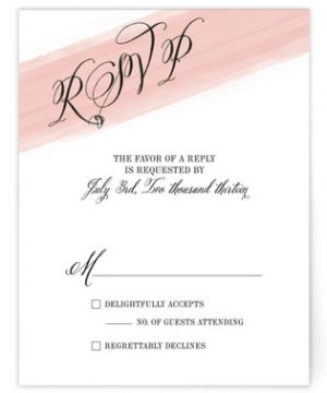 Awash Watercolor Print-It-Yourself Wedding RSVP Cards