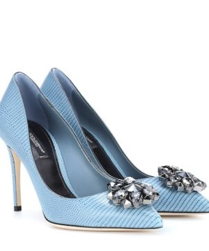 Bellucci embellished leather pumps