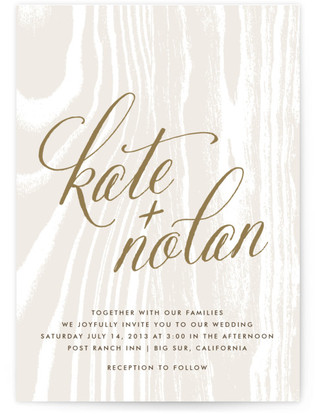 Big Sur Wedding Invitations