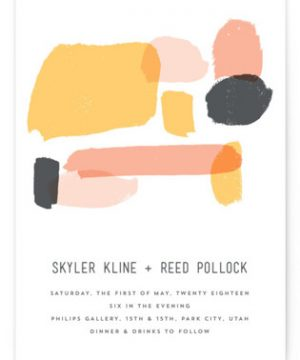 Brush Wedding Invitations