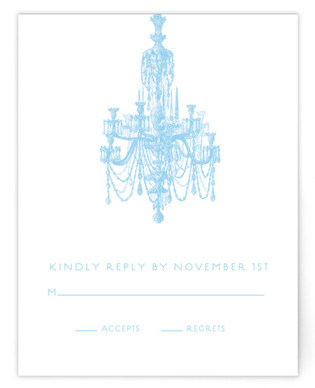 Chandelier Print-It-Yourself Wedding RSVP Cards