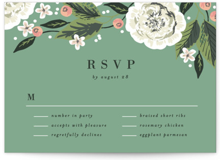Climbing Rose RSVP Postcards