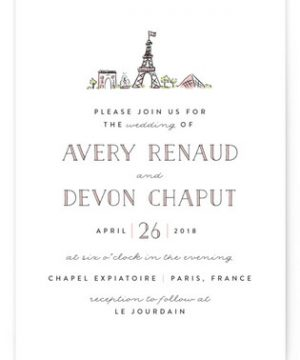 Darling Day Paris Wedding Invitations