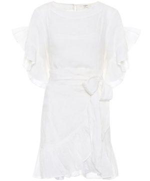 Delicia linen wrap dress