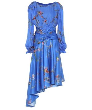 Diana floral satin dress