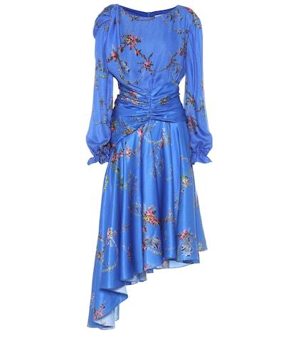 Diana floral satin dress