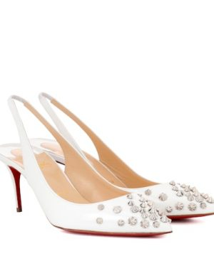 Drama Sling 70 patent leather pumps