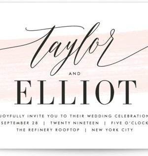 Effervescent Wedding Invitations