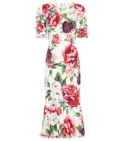 Embellished stretch silk dress