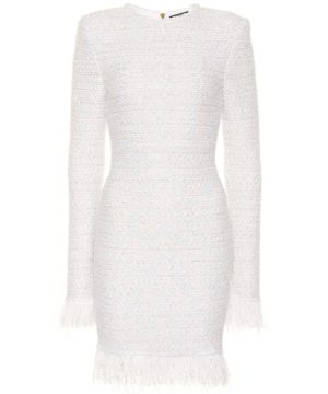 Exclusive to Mytheresa - Metallic bouclé dress