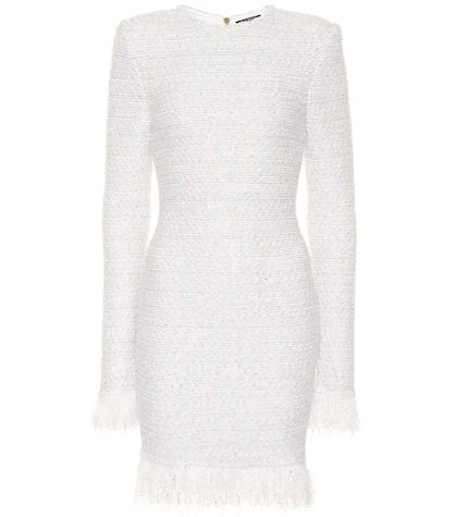 Exclusive to Mytheresa - Metallic bouclé dress