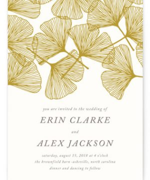 Falling Ginkgo Wedding Invitations