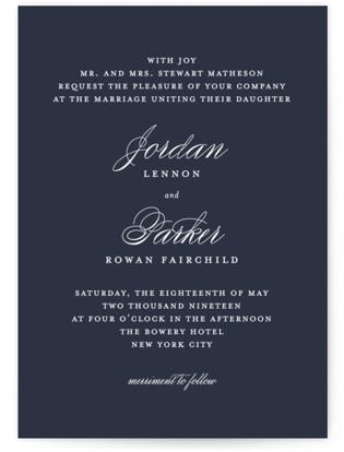 Flawless Wedding Invitations