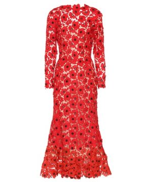 Floral guipure lace dress