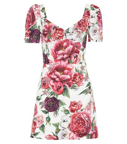 Floral silk-blend dress