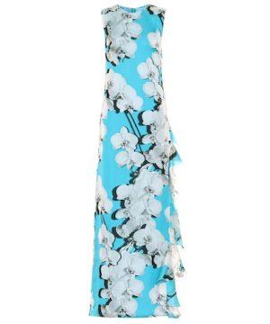 Floral silk dress